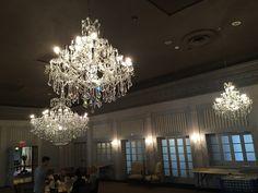 cluster of crystal chandeliers in ballroom Crystal Chandeliers, Light Project, Ceiling Lights, Lighting, Crystals, Projects, Home Decor, Log Projects, Blue Prints
