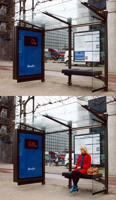bus stop scale - gym public advertising campaign