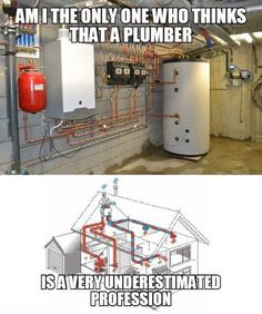 I'm the only one who thinks that the plumbing trade is a very underrated profession? - Plumbing Tips Plumbing Humor, Plumbing Tools, Plumbing Pipe, Plumbers Crack, Slab Leak, Plumbing Problems, Home Inspection, Diy Solar, Home Repair