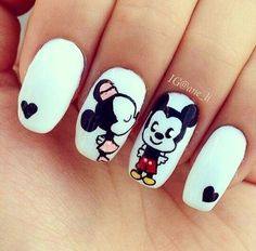 Patterned Nail Polish Fashions # Patterned # Nail Polish Acrylic Nails Related posts: Nail art design Winter 2018 photo 13 Beautiful summer nail art designs to try this summer Black Matt Nails, … Cute Acrylic Nails, Cute Nails, Pretty Nails, My Nails, Gelish Nails, Fall Nails, Mickey Mouse Nail Design, Minnie Mouse, Mouse Ears