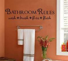 Wash and flush!