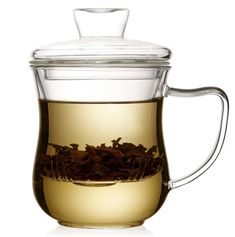 Zenshi Loose Leaf Tea Infuser Glass Cup with Lid Glass Tea Cups, Glass Teapot, Tea Gift Sets, Tea Gifts, Tea Infuser, Tea Accessories, Loose Leaf Tea, Tea Ceremony, Tea Mugs