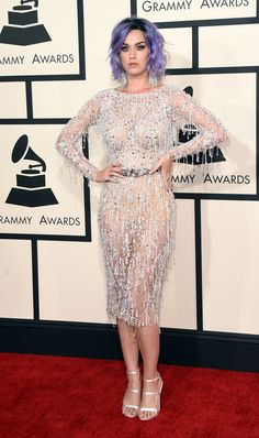 Best | Katy Perry, wearing Zuhair Murad Couture, dazzled us in this sheer, flapper-inspired look. via @stylelist