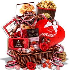 Be My Valentine - Valentine's Day Gift Basket - http://mygourmetgifts.com/be-my-valentine-valentines-day-gift-basket/