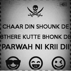 Diet Quotes Funny Tagalog 32 New Ideas Punjabi Funny Quotes, Punjabi Attitude Quotes, Sikh Quotes, Gurbani Quotes, Desi Quotes, People Quotes, Hindi Quotes, True Quotes, Quotations