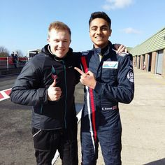 """SMP F4 CHAMPIONSHIP sanoo Instagramissa: """"Our graduated student ready to race in Snertterton! Good luck guys! #racing #motorsport #formula #england #goodluck #finland #british #SMPF4Army"""" Rain Jacket, Bomber Jacket, Good Luck, Finland, Windbreaker, British, Racing, Student, Guys"""