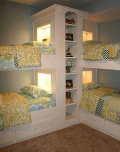 Kids beds or guest room. Could even put doubles on the bottom.