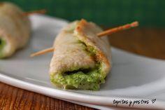 Una receta sensacional lista en tan sólo 20 minutos: rollitos de pollo al pesto