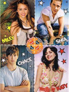 Miley Cyrus, Shia, Chase, Katy Perry (Twist)
