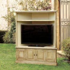 San Marino Corner Media With Hutch   European Inspired Home Furnishings    Ballard Designs $1799