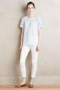 Lace-Topped Tee - anthropologie.com