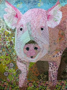 """Stop and Smell the Flowers"" by Shannon Shirley.  2012 Pennsylvania National Quilt Extravaganza.  Posted at Simeon the Whale"