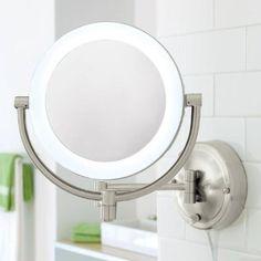 Amazon.com: 10X/1X Natural-Light Wall Mirror: Beauty