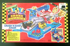 Vintage Crash Dummies Crash 'N Bash Test Chair #TYCO 1991 Original Box Unused