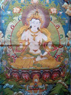 "Dorje Sempa (Tibetan), Vajrasattva (Sanskrit) One of the most important and difused Budhha in practice ""the Supreme Purifier"" Art Buddha, Buddha Buddhism, Tibetan Buddhism, Vajrayana Buddhism, Buddhist Symbols, Thangka Painting, Tibetan Art, Taoism, Sacred Art"