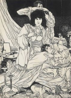 Austin Osman Spare (English, 1886-1956), A Book of Satyrs: The Beauty Doctor, 1906. Ink, wash and gouache