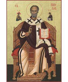Byzantine Icons, Byzantine Art, Religious Pictures, Religious Icons, Early Christian, Anatomy Drawing, Saint Nicholas, Orthodox Icons, Patron Saints