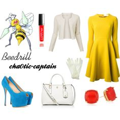 #015 Beedrill Inspired Outfit by cha0tic-captain on Polyvore featuring Gianluca Capannolo, Witchery, Giuseppe Zanotti, Tory Burch, Kate Spade, Accessorize, Henri Bendel, women's clothing, women's fashion and women
