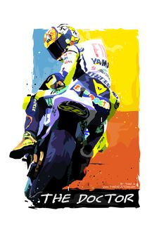 Valentino Rossi 001 - 04--no outline-prev-trans Motorcycle Racers, Motorcycle Art, Bike Art, Valentino Rossi Logo, Motogp Valentino Rossi, Racing Stickers, Bike Stickers, Doctor Picture, Vr46