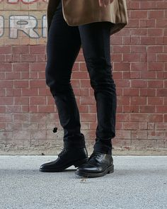 Another look at Thursday Boot Co.'s Captain Boots. #thursdayboots #leather #boots #outside #city