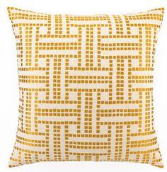 D.L. Rhein Basket Weave Marigold Pillow