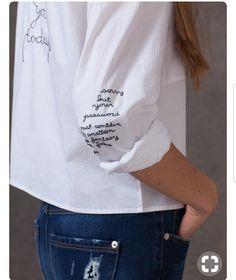 Embroidery Fashion Detail Shirts Ideas For 2019 Fashion Details, Diy Fashion, Fashion Outfits, School Fashion, Fashion Ideas, Fashion Clothes, Fashionable Outfits, Work Fashion, Unique Fashion
