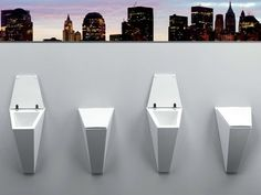 Suspended Urinal Crystal Collection by Olympia Ceramica   design Francesco Lucchese