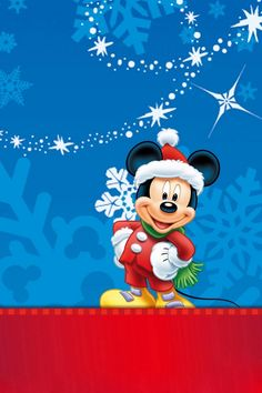 Christmas Mickey Mouse! Free Christmas animated video wallpapers at www.fabulouswallpaper.com/christmaswallpapers.shtml