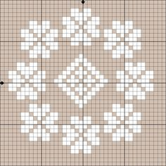 Бесплатная схема вышивки крестом - белое кружево - Ярмарка Мастеров - ручная работа, handmade