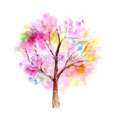 Watercolor tree — Stock Image #49704585