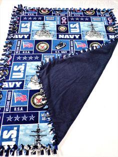 US Navy Blanket  Navy Mom  Navy Girlfriend  Navy Veteran
