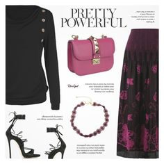 """""""Rosegal"""" by novalikarida ❤ liked on Polyvore featuring Valentino and Dsquared2"""