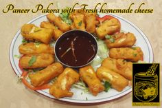 Paneer Pakora ~ Fresh homemade cheese, marinated in yogurt, ginger, garlic and batter-fried at Original Tandoori Kitchen Paneer Pakora, Best Butter, Homemade Cheese, Butter Chicken, Indian Food Recipes, Chicken Wings, Yogurt, Fries, Garlic