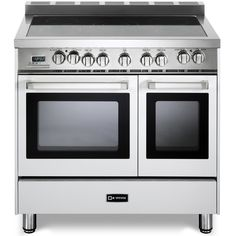 Verona introduces an all-electric double oven range, delivering the performance you demand and expect in a professional range. 5 Element configuration, center dual element where you can safely accommodate large stock pots. 2 Multifunction convection ovens provide seven cooking modes.