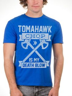 Do you follow the Creed of the Assassin with a big ass hatchet? Then flaunt it with your steez in our Death Blow royal blue t shirt for guys!