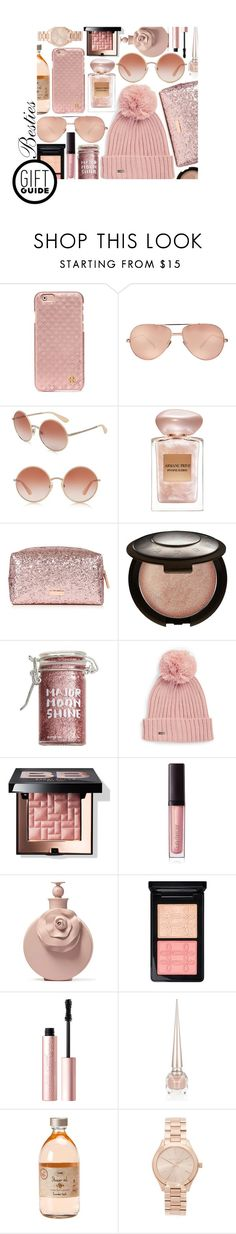 """""""Gift Guide--Besties: Contest Entry"""" by isquaglia ❤ liked on Polyvore featuring Tory Burch, Linda Farrow, Dolce&Gabbana, Giorgio Armani, Becca, Major Moonshine, Calvin Klein, Bobbi Brown Cosmetics, Laura Mercier and Valentino"""
