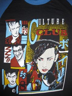 Vintage 80's CULTURE CLUB T SHIRT concert tour by rainbowgasoline, $50.00