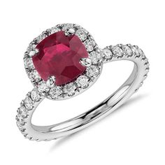 Never mind!!!   I found this one instead!!!  Cushion Cut Ruby and Diamond Pave Halo Ring in Platinum (1.38 ct center)