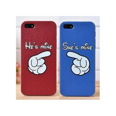 His and Hers iPhone Case 5S 5 4S Matching Hands por onlyuniquegifts
