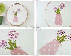 Lavender garden daisy garden hand by KawaiiSakuraHandmade on Etsy