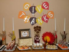 Thanksgiving Mini Dessert Buffet #thanksgiving #desserts