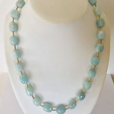 Aquamarine necklace for zodiac pisces march birthstone