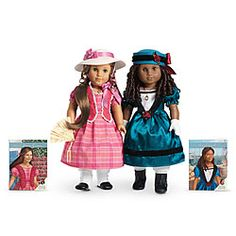 American Hostorical Character Dolls, era 1853     ~ Cécile™ and Marie-Grace™ ~    New Orleans 1853    Follow the unforgettable journey of Marie-Grace Gardner and Cécile Rey as they form an unlikely bond in their hometown of New Orleans. When sickness spreads through the city, these newfound friends learn to count on each other as they use courage and compassion to help those in need.