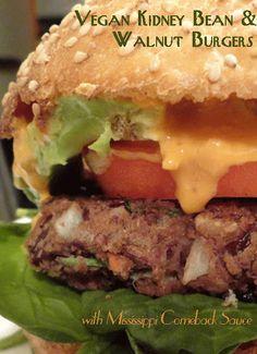 #MeatlessMonday with the #Vegan Kidney Bean & Walnut Burgers with Mississippi Comeback Sauce http://www.miratelinc.com/blog/meatless-monday-with-the-vegan-kidney-bean-walnut-burgers-with-mississippi-comeback-sauce/ #veganfood Comeback Sauce, Vegan Meatballs, Vegan Yogurt, Vegan Foods, Vegan Vegetarian, Vegetarian Recipes, Recipe Share, Bean Burger, Environment