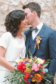 inspiration mariage multicolore & DIY garden party arc-en-ciel