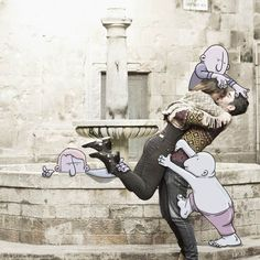 Une nouvelle série des Photo Invasions de l'illustrateur Lucas Levitan, qui continue de dessiner des doodles mignons et amusants sur les photos Instagram des