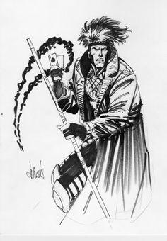 Jim Lee Sketches | Gambit Jim Lee Sketch of gambit by lee weeks.
