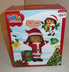 Dora The Explorer 4' Airblown Inflatable Yard Decor Decoration Holiday Christmas #Gemmy