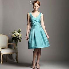 Aqua belted prom dress - Bridesmaid dresses - Dresses - Women -