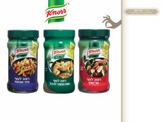 Knorr brand. Sauce for chicken cook. packaging design for Unilever Israel by Vardit Dafni- Art director and Brand artist